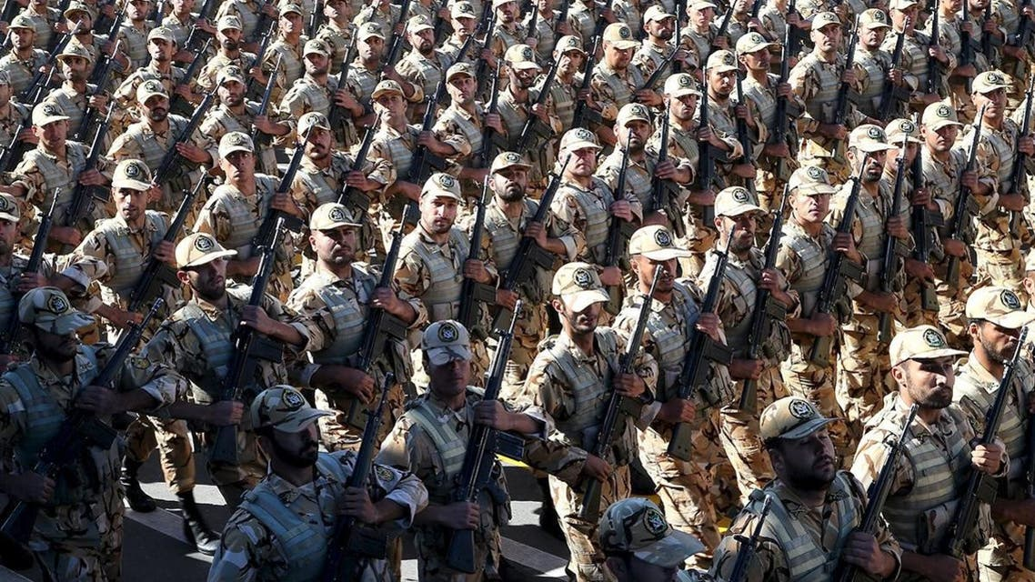 Iranian soldiers march during a military parade marking National Army Day in Tehran, Iran, April 17, 2016. (Reuters/President.ir)