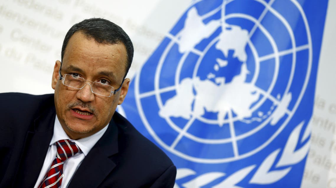 UN Secretary-General Special Envoy Ismail Ould Cheikh Ahmed speaks to media after the Yemen peace talks in Switzerland in Bern December 20, 2015. (Reuters)