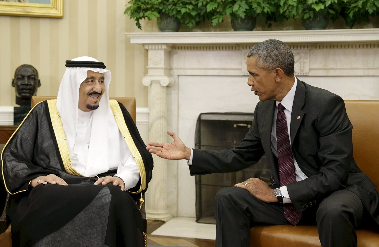 US President Barack Obama meets Saudi King Salman bin Abdulaziz (L) in the Oval Office of the White House in Washington, US, September 4, 2015. (Reuters)
