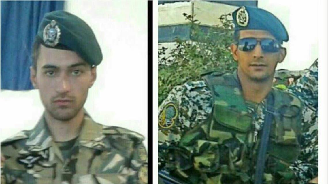 عنصرا الكوماندوس من القبعات الخضر حسين همتي وصادق شيبك