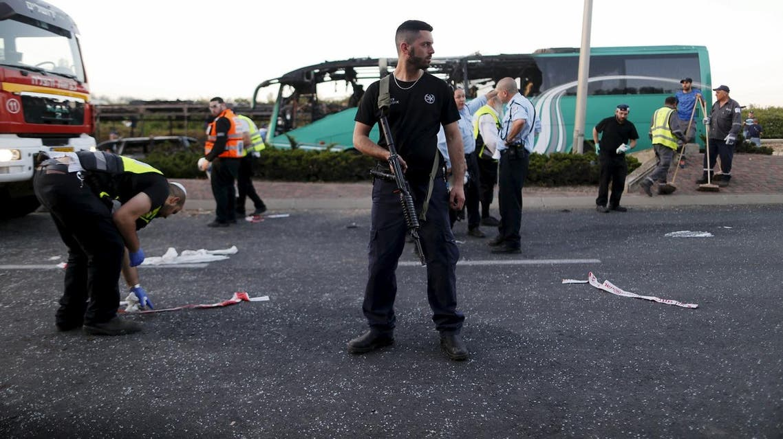 Israeli authorities have been investigating Tuesday's Jerusalem bus bombing that wounded 21 people, for which there has been no claim of responsibility. (Reuters)