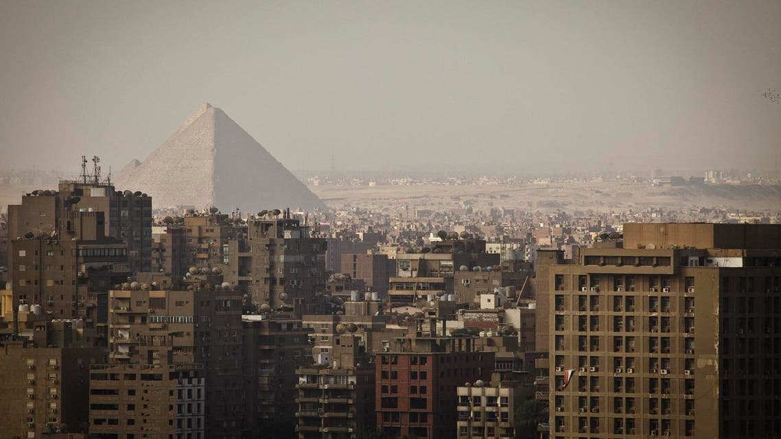 The Giza Pyramids dominate the skyline in Giza, Egypt, Cairo's sister city, Friday, Oct. 18, 2013. Supporters of ousted President Mohammed Morsi held demonstrations around the country to protest against the military-backed interim government and its crackdown on the Muslim Brotherhood. Security, already volatile since 2011, has worsened since the military overthrew Morsi following mass protests calling for his resignation. (AP Photo/Maya Alleruzzo)  Use Information This content is i