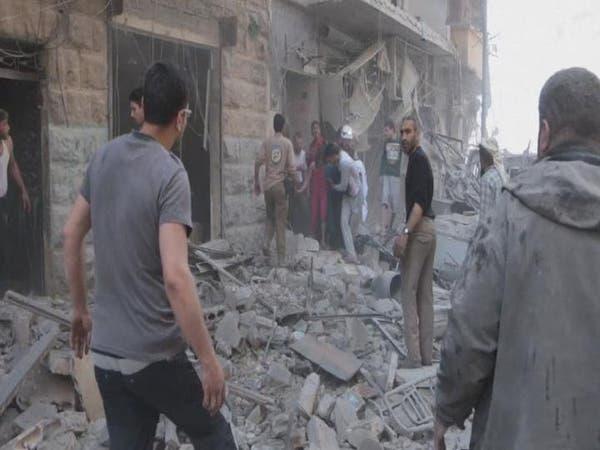 غارات على مدينة الأتارب غرب حلب تحصد 10 مدنيين
