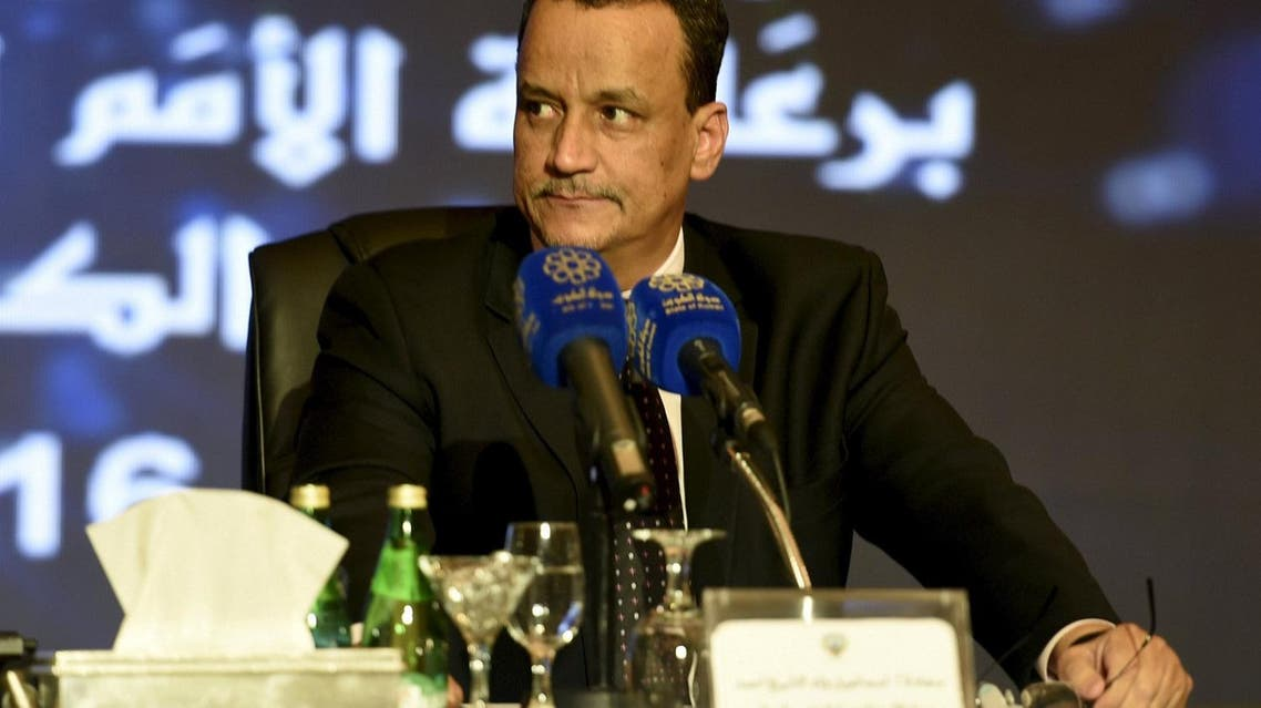 U.N. special envoy to Yemen Ismail Ould Cheikh Ahmed attends a press conference after the first direct meeting between Yemen's warring factions, at the Kuwait Ministry of Information in Kuwait City April 22, 2016. REUTERS/Stephanie McGehee