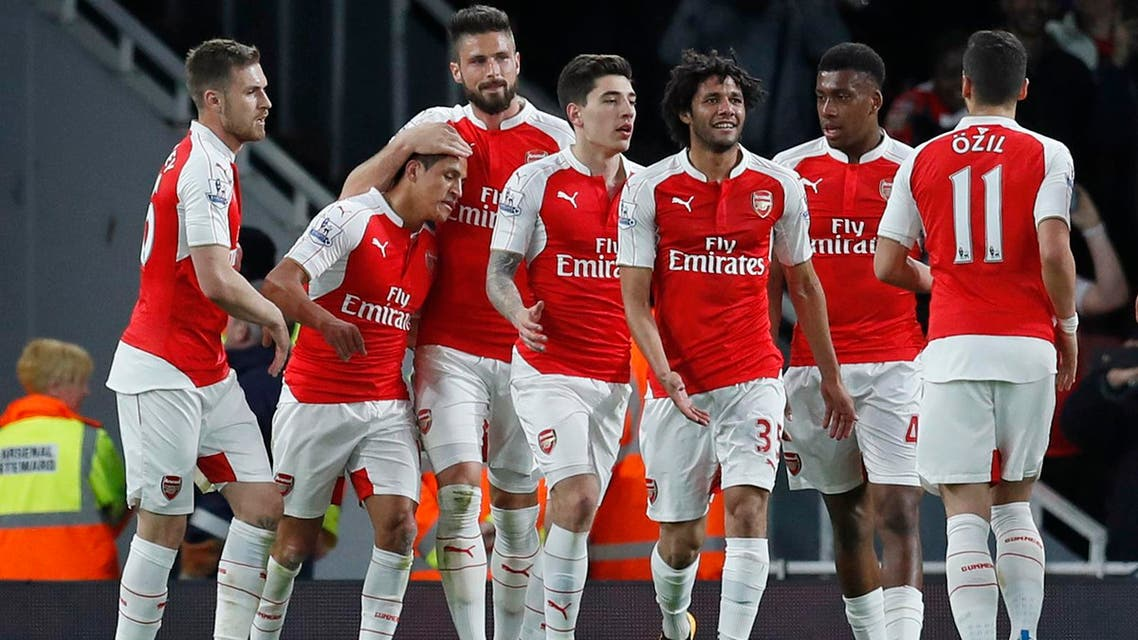 Arsenal's 2-0 win over West Bromwich Albion took them to 63 points, two above Manchester City, and into the final automatic Champions League qualifying spot. (Reuters)