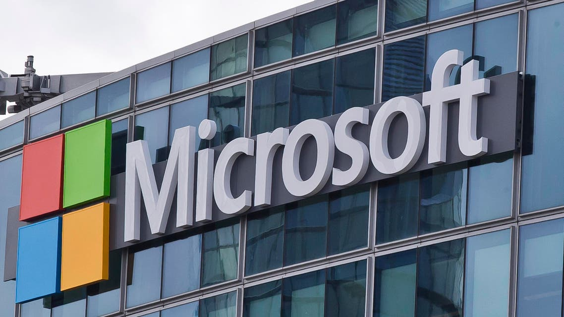 This Tuesday, April 12, 2016 file photo shows the Microsoft logo in Issy- les-Moulineaux, outside Paris, France. (AP)