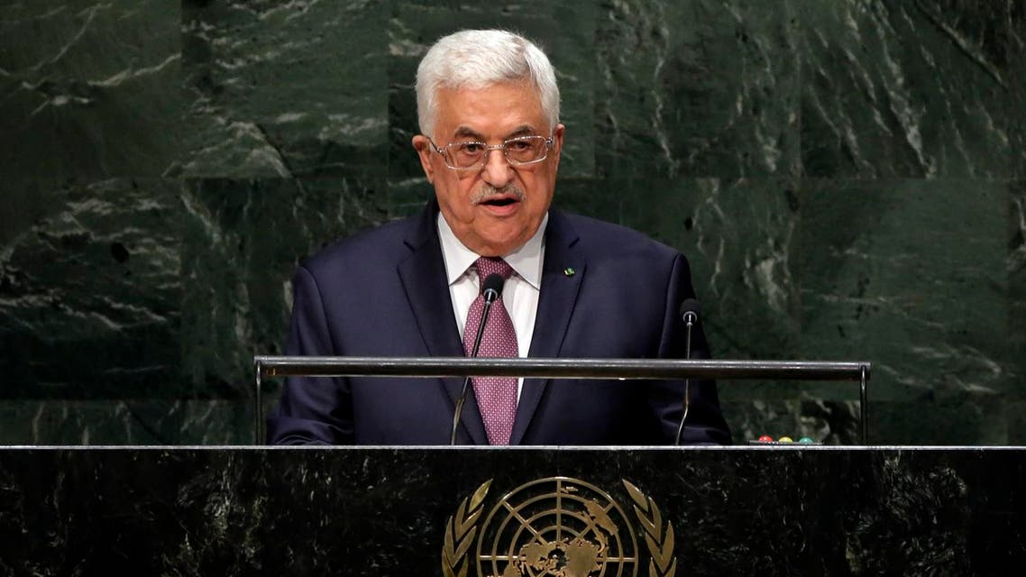 In this file photo taken Friday, Sept. 26, 2014, Palestinian President Mahmoud Abbas addresses the 69th session of the United Nations General Assembly at U.N. headquarters. Israeli leaders on Sunday, Jan. 4, 2015, threatened to take tougher action against the Palestinians over their decision to join the International Criminal Court, a day after freezing the transfer of more than $100 million in tax funds. Last week's Palestinian decision to seek membership in the international court has infuriated Israel. (AP)