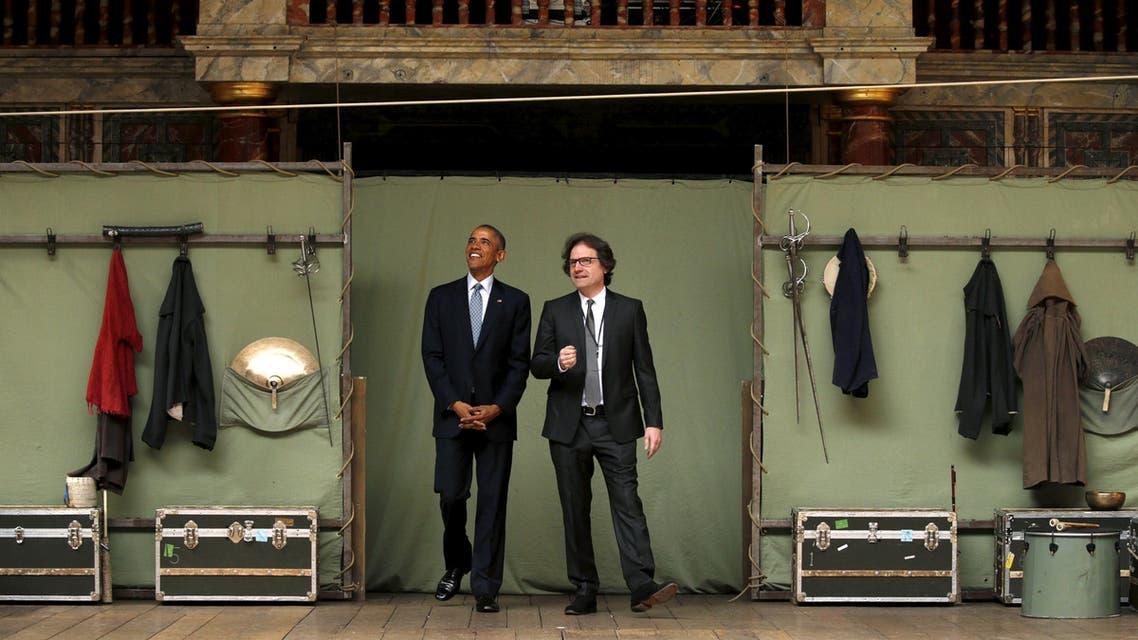Obama at Shakespeare's Globe in London