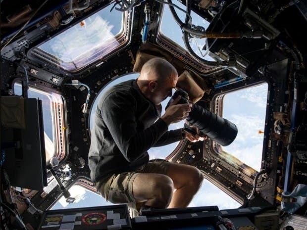 جانب من عمليات التصوير من الفضاء
