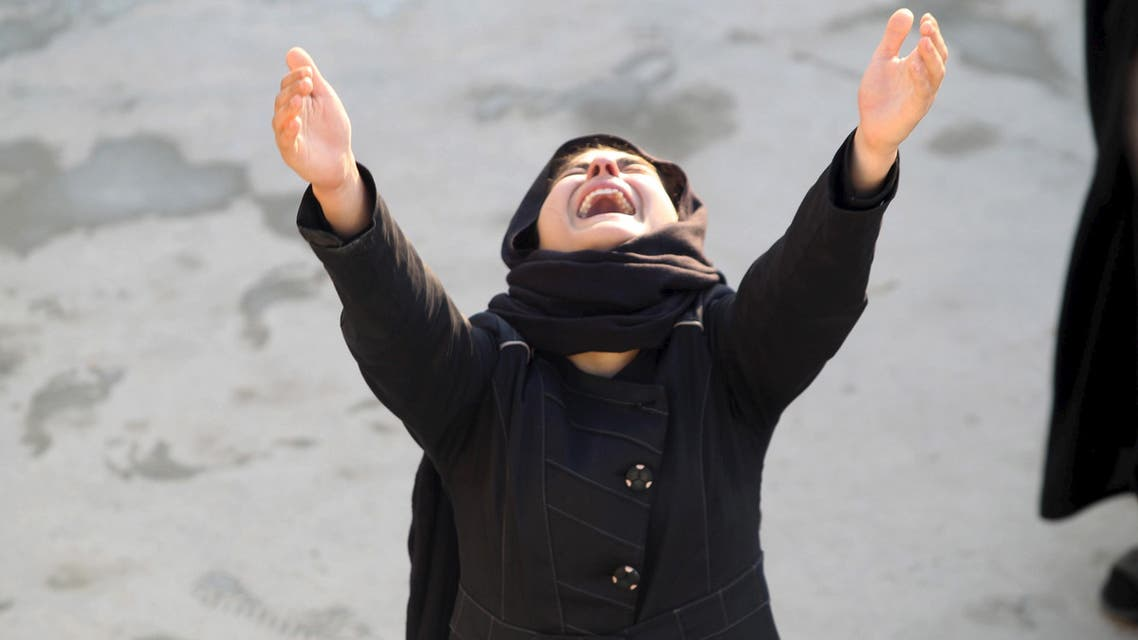 File photo: A woman reacts during a funeral of a victim who was killed in a bomb attack in Baghdad, in Najaf, south of Baghdad, February 29, 2016. (Reuters)