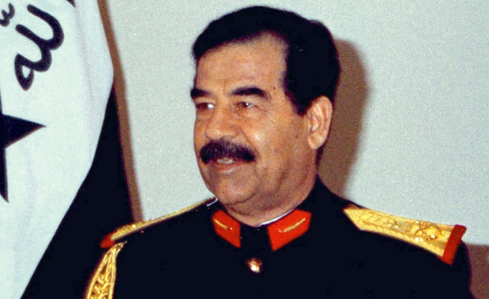 Iraqi President Saddam Hussein speaking during a 1997 address marking the 76th anniversary of the Iraqi forces. (File photo: Reuters)