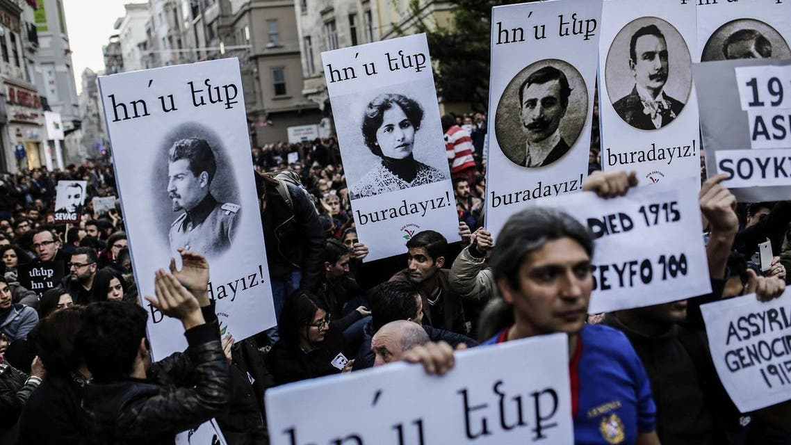 Turkey has long rejected Armenian claims that the killing of up to 1.5 million of their kin as the Ottoman Empire fell apart be classed as a genocide (AFP)