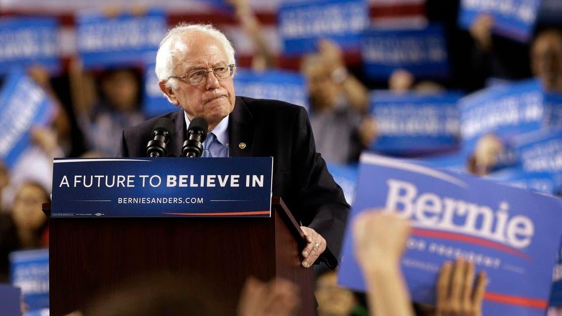 Democratic presidential candidate, Sen. Bernie Sanders, I-Vt., speaks during a rally in Baltimore, Saturday, April 23, 2016. (AP)