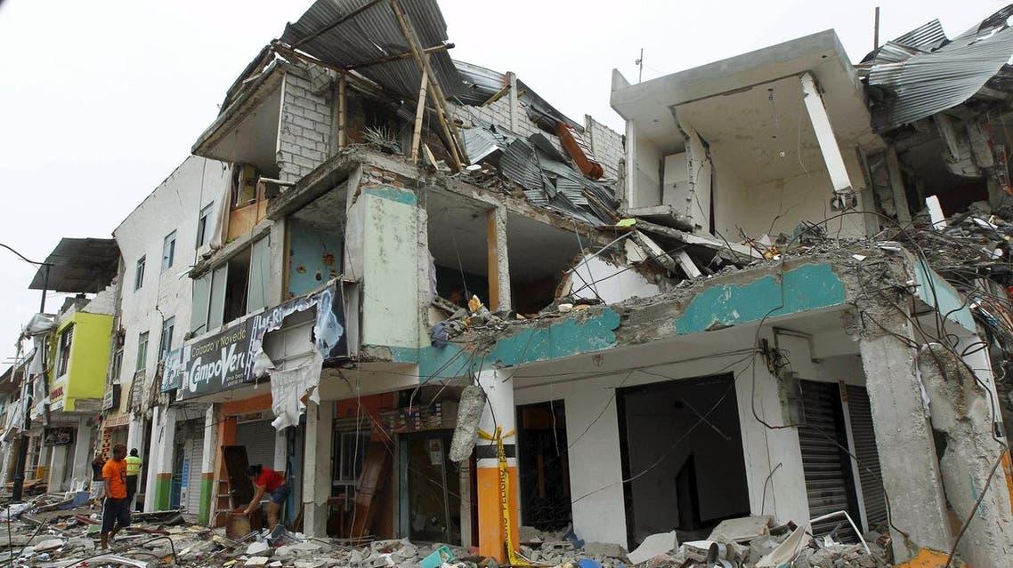 مبنى منهار في بيدرناليس بالاكوادور في صورة يوم الجمعة. تصوير: جويرمو جرانجا - رويترز.