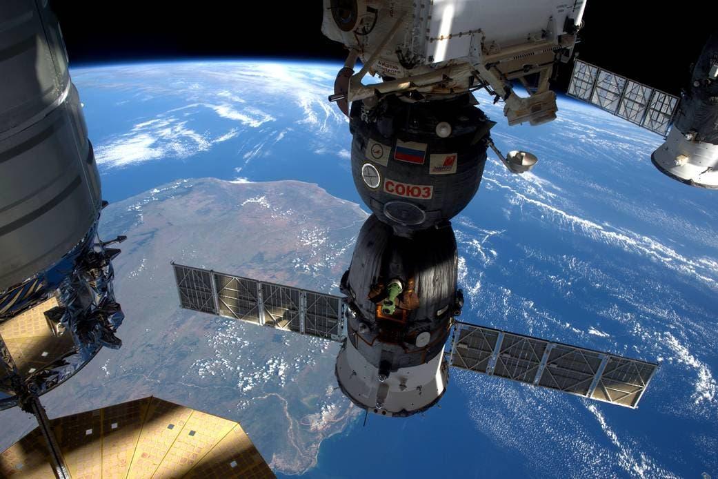 محطة الفضاء الدولية تمر فوق مدغشقر