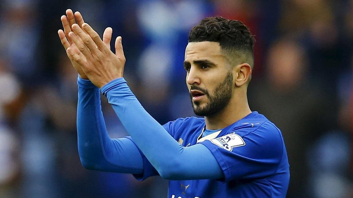 Football Soccer - Leicester City v Swansea City - Barclays Premier League - The King Power Stadium - 24/4/16Leicester City's Riyad Mahrez applauds fans after the game (Reuters)