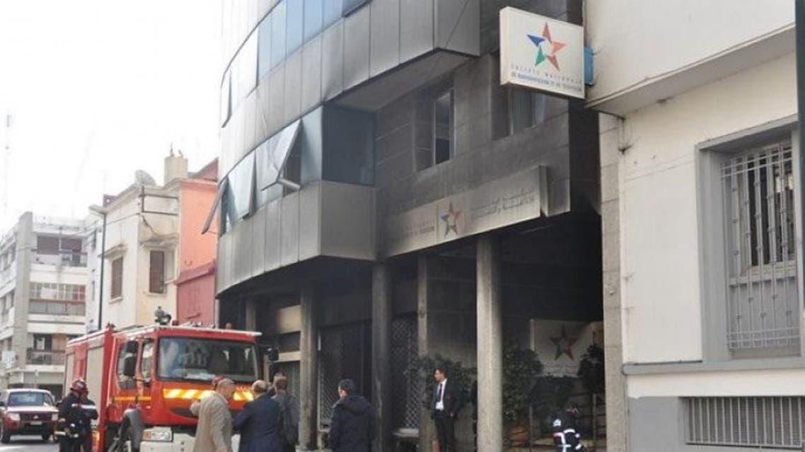 حريق المغرب الشركة الوطنية التلفزيون التلفزة الإذاعة