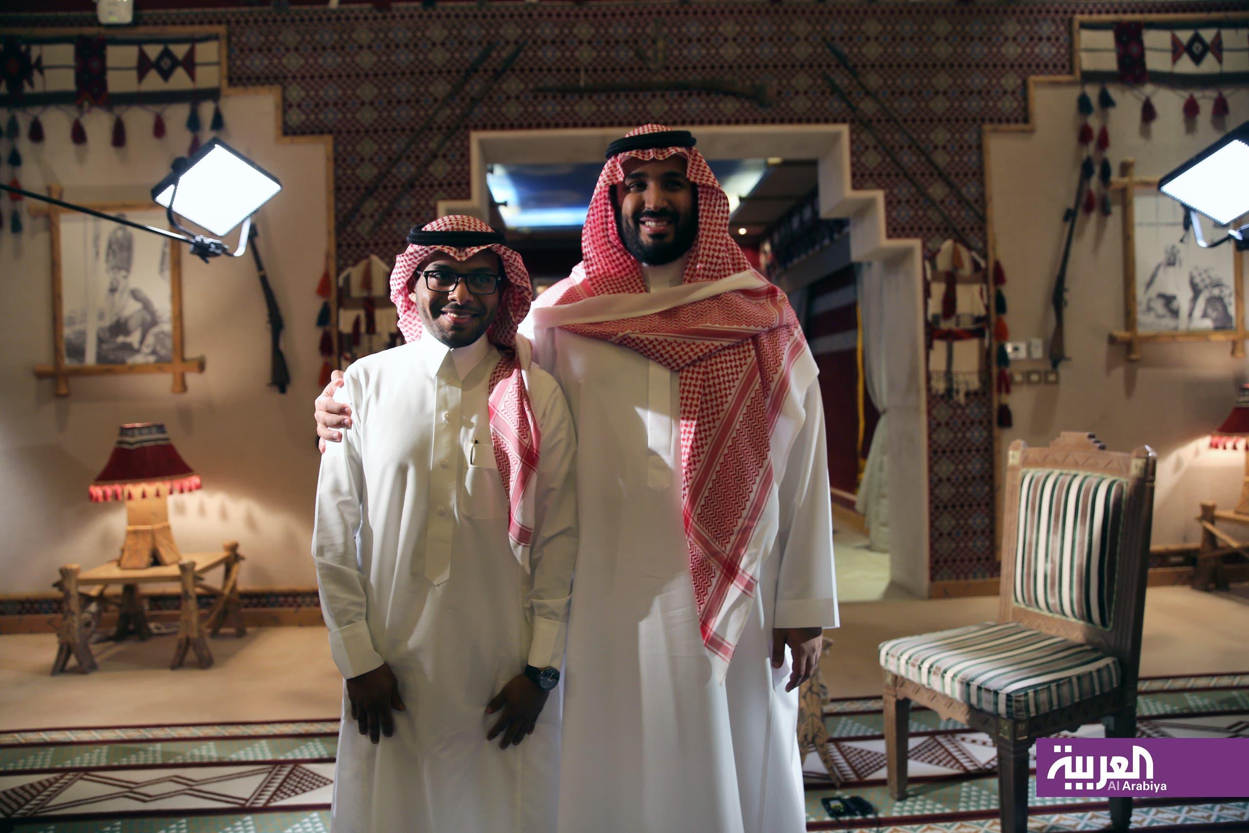 الزميل تركي العميرة مع الأمير محمد بن سلمان
