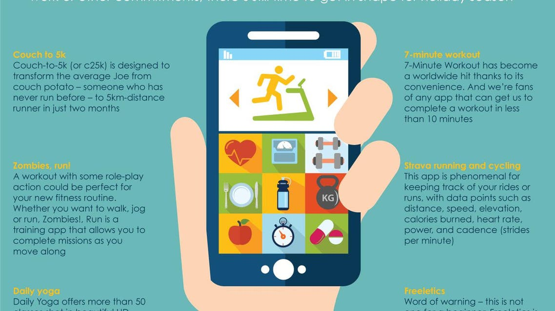 Infographic: Top 6 fitness apps to help get you in shape for the summer