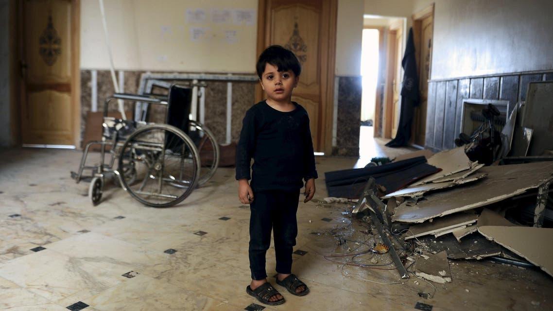 Hospital struck by blast in Damascus