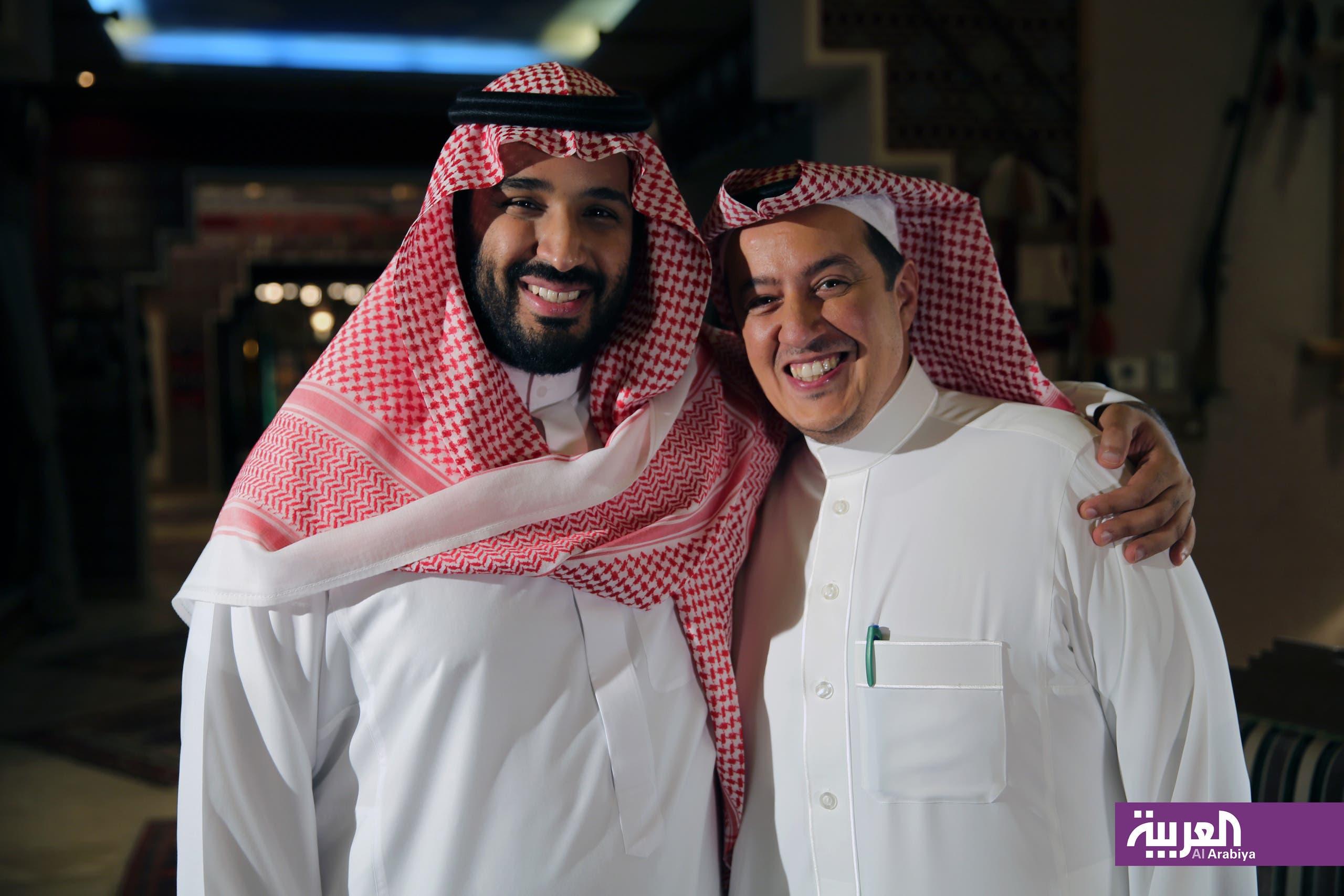 الأمير محمد بن سلمان والزميل تركي الدخيل