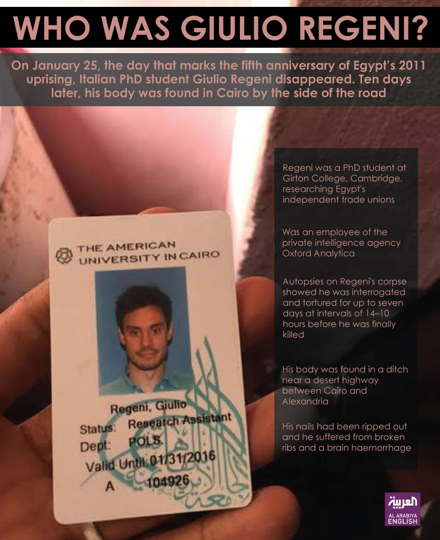 Infographic: Who was Giulio Regeni?
