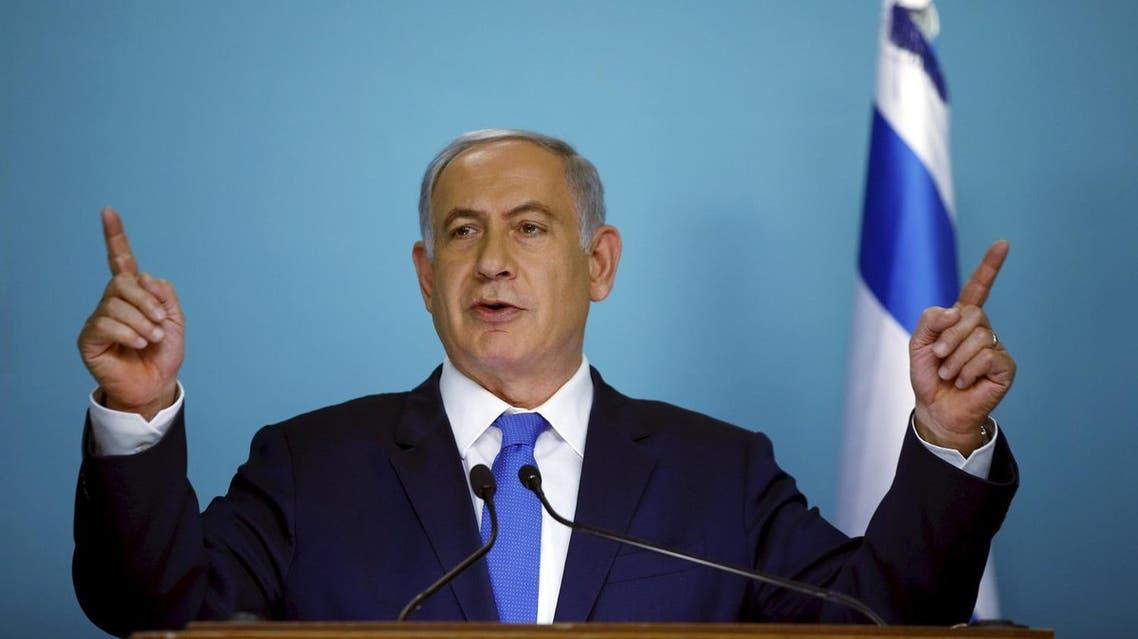 رئيس الوزراء الإسرائيلي بنيامين نتنياهو يتحدث أثناء مؤتمر صحفي يوم 23 مارس آذار 2016. تصوير رونين وفولون - رويترز.