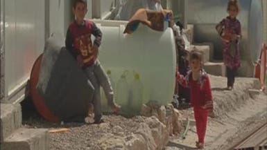 أطفال إيزيديون يفرون من التدريبات القتالية لداعش