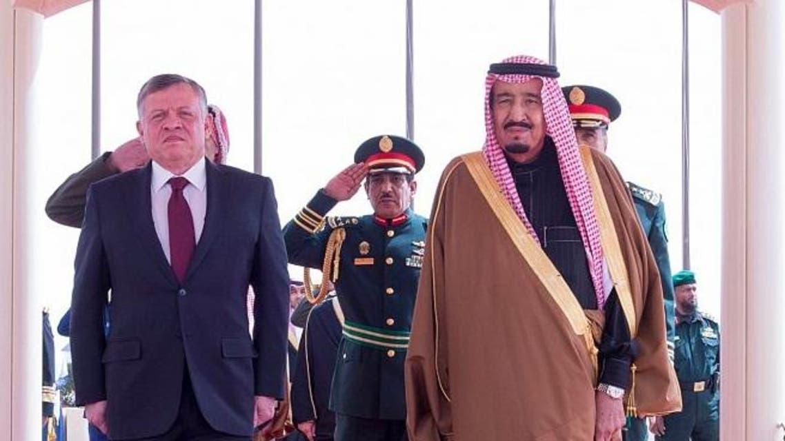 الملك سلمان يستقبل العاهل الأردني