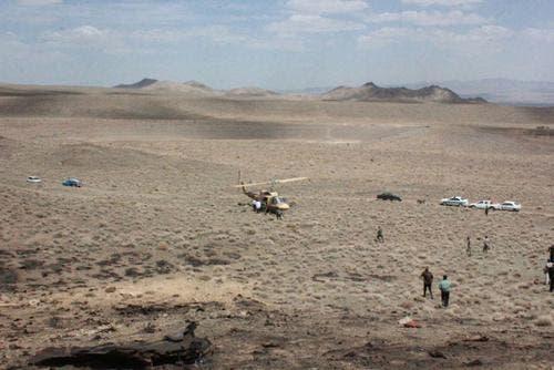 محل سقوط جنگنده اف 7
