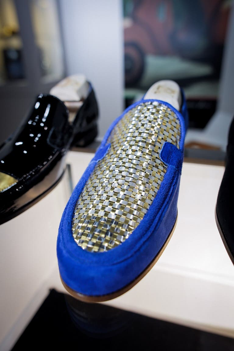 The unique hand-crafted shoes are also available in platinum, palladium and silver finishes. (Photo supplied)