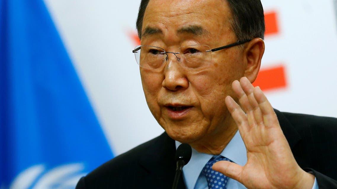 U.N. Secretary General Ban Ki-moon addresses a news conference in Vienna, Austria, April 26, 2016. REUTERS/Heinz-Peter Bader