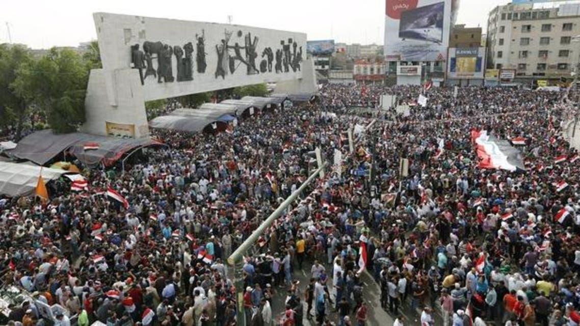 من تظاهرات أنصار الصدر في المنطقة الخضراء