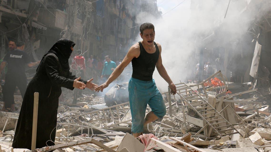 قصف على حلب العربية الحدث
