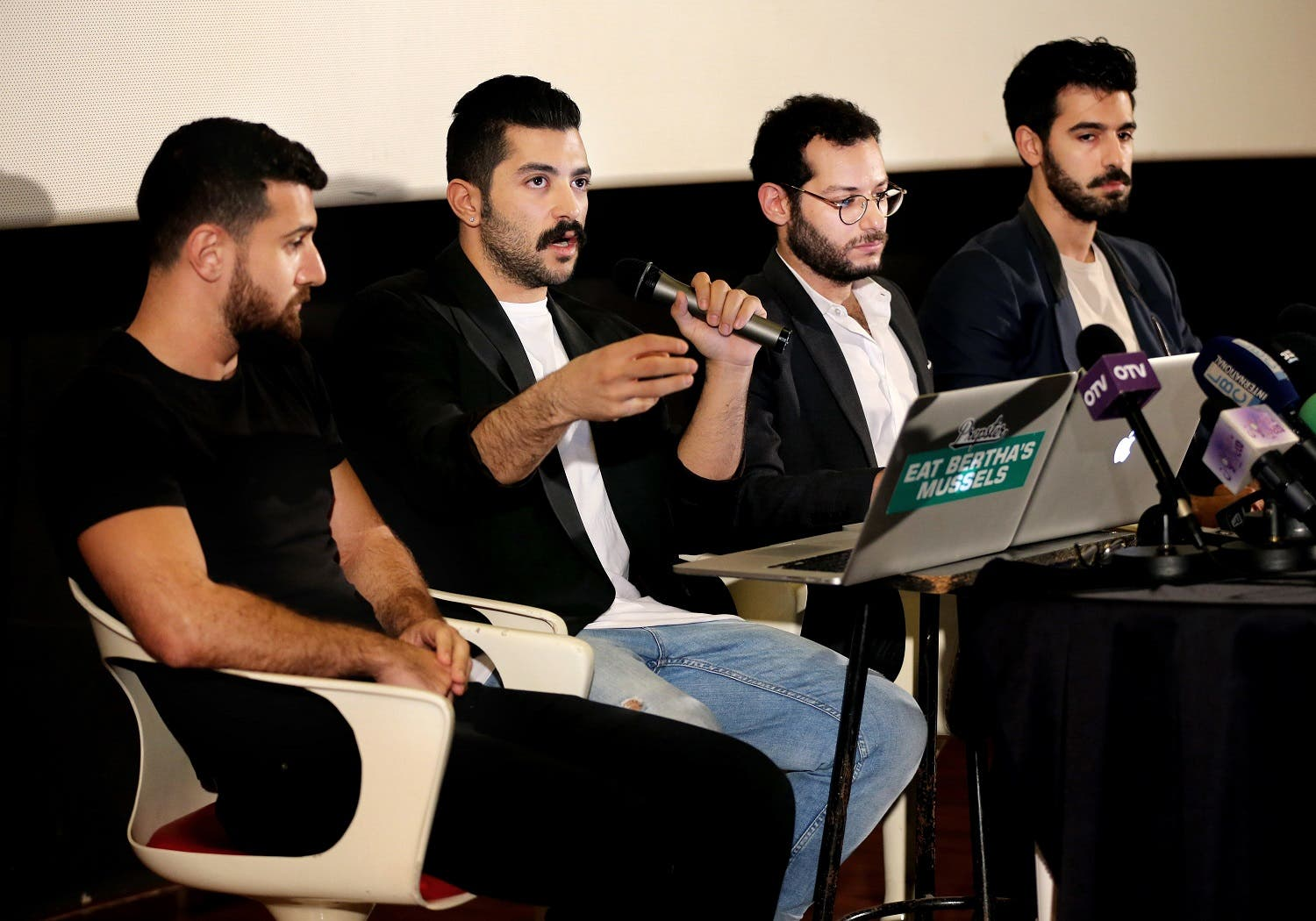 Mashrou' Leila's songs often take on controversial subjects such as corruption, censorship, state violence and sexual freedom. (AP)