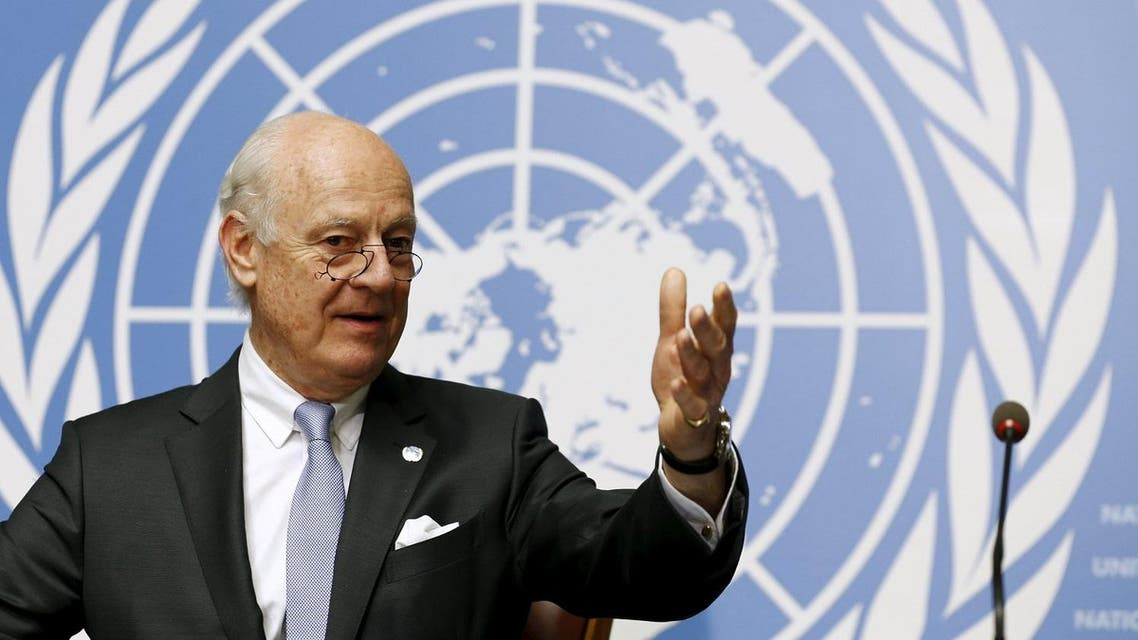 Staffan de Mistura said that the two sides shared the view 'that the transitional governance could include members of the government and opposition'. (Reuters)