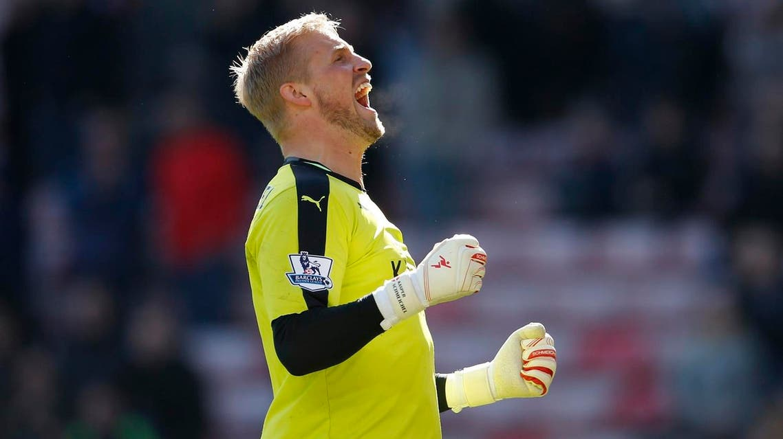 Schmeichel, who is Denmark's keeper just as his father was, is clear that the secret of Leicester's rise has been teamwork. (Reuters)