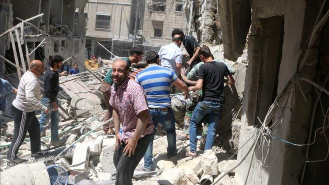 المرصد السوري: مقتل 202 مدني على الأقل في حلب خلال الأسبوع الأخير