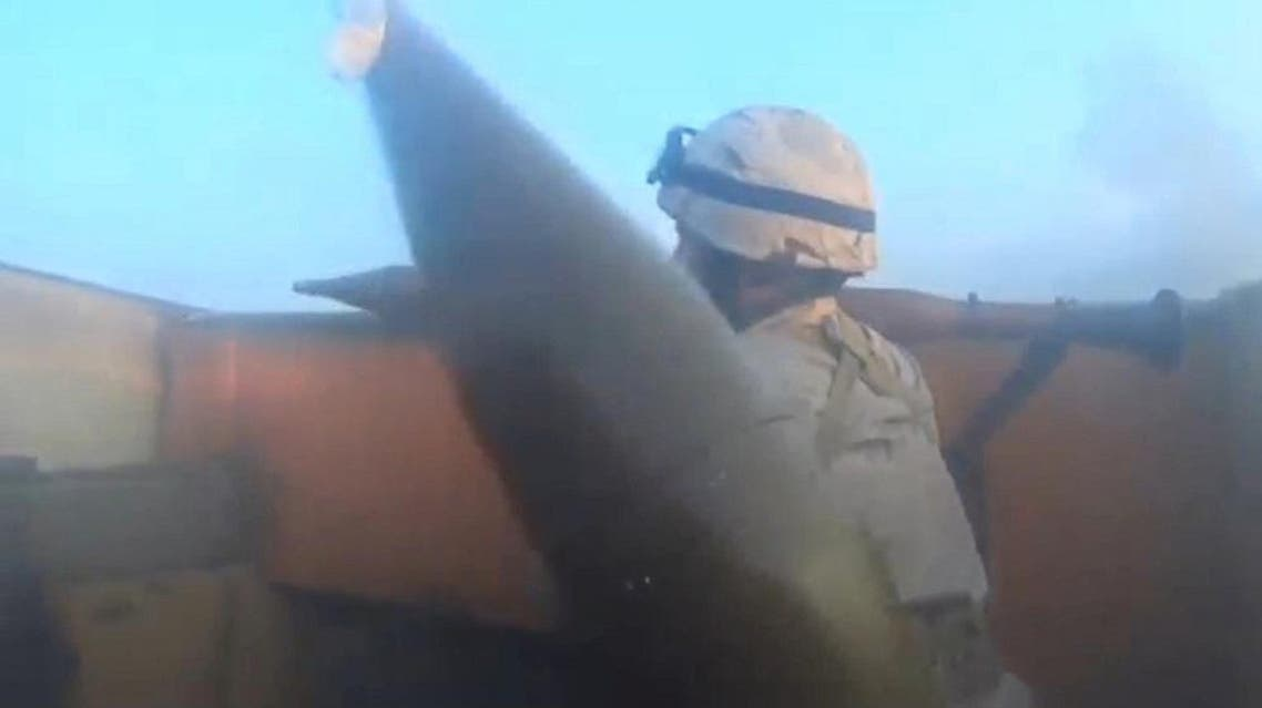 An Islamic State fighter is seen carrying a rocket-propelled grenade launcher in Iraq, in this still image taken from an amateur video supplied by Kurdish Peshmerga and received by Reuters on April 29, 2016 (Reuters)