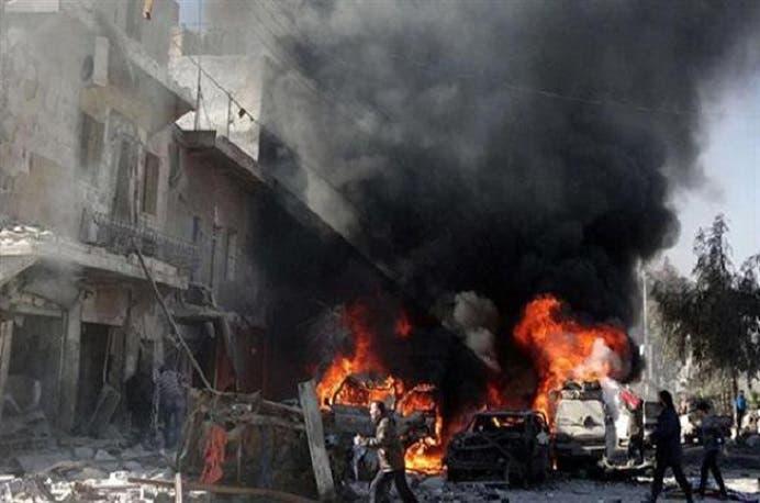 صورة بثتها الوكالات للغارة الأسدية الطراز على مستشفى القدس الأربعاء الماضي