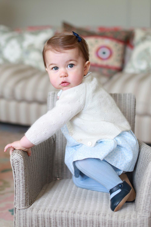 The princess will celebrate her first birthday on Monday. (Photo: Kate, the Duchess of Cambridge/Kensington Palace via AP)