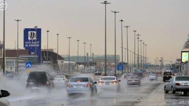 أمطار رعدية ورياح مثيرة للغبار على بعض مناطق المملكة