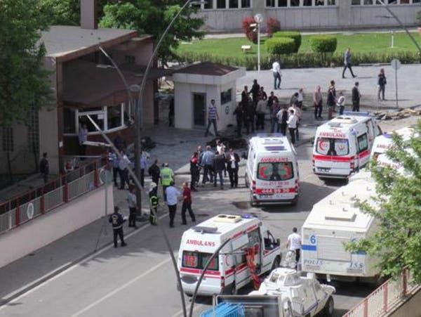 إصابة 10 من رجال الأمن في تفجير جنوب شرق تركيا