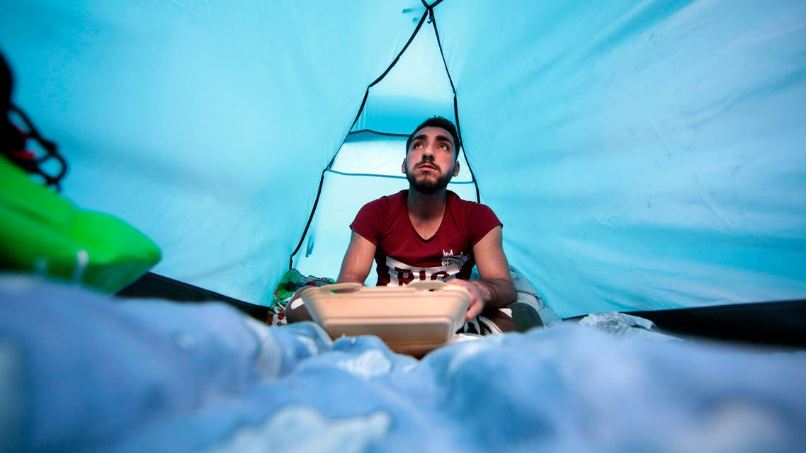 Ehab Ali Naser, a 23 year-old Syrian refugee, who had spent a year in Lebanon before traveling to Europe. (Reuters)