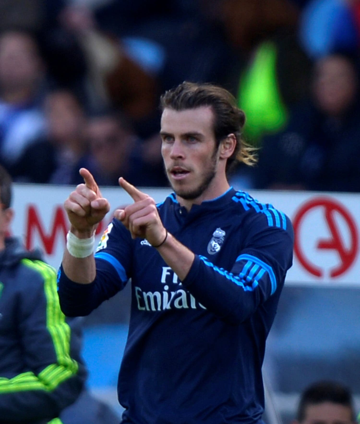 Real Madrid's Gareth Bale celebrates a goal during match against Real Sociedad REUTERS