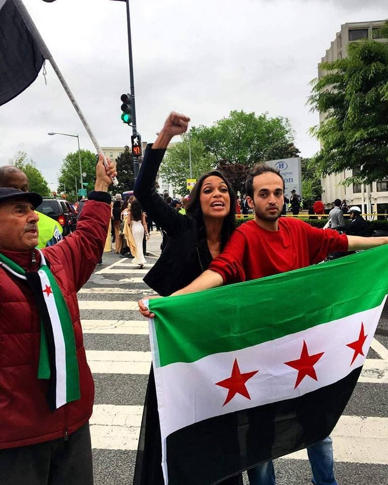 washington dc rally aleppo