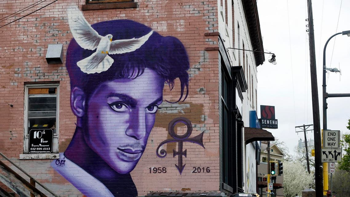 A mural honoring the late rock star Prince adorns a building in the Uptown area of Minneapolis Thursday, April 28, 2016, Prince died last week at his Paisley Park home at the age of 57. An investigation into his death continues. (AP)