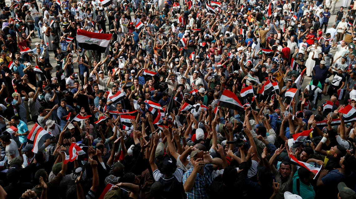 Followers of Iraqi cleric Moqtada al-Sadr gather at Grand Festivities Square within the Green Zone in Baghdad, Iraq, May 1, 2016. (Reuters)