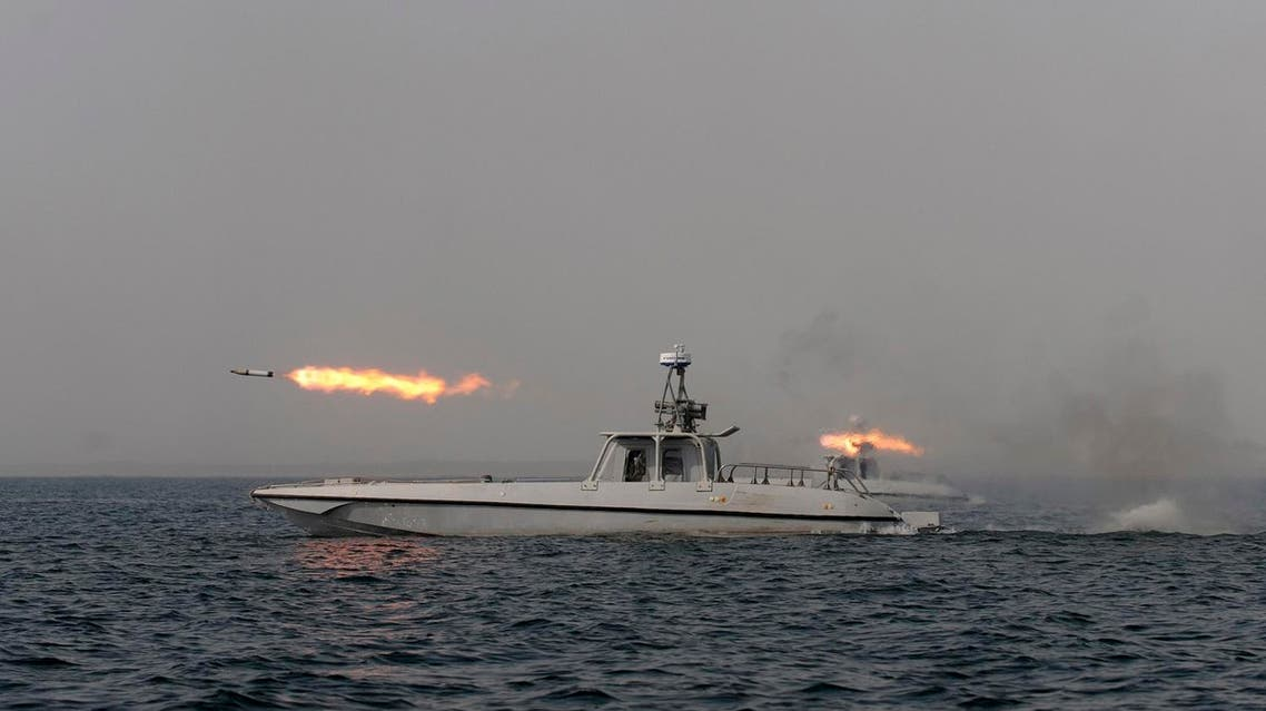 """Iran also sank a replica of a US aircraft carrier near the strait in February 2015 and has said it is testing """"suicide drones"""" that could attack ships. (File photo: AP)"""