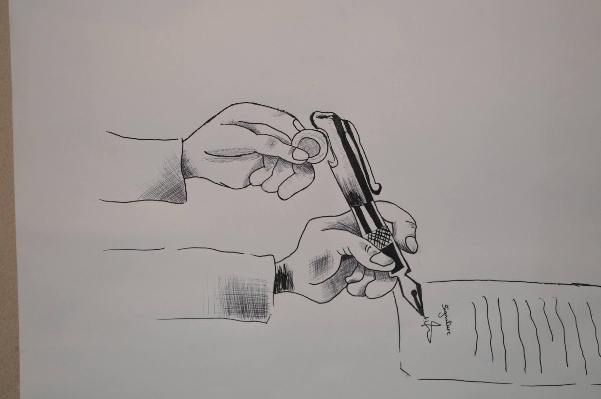 رسوم لتلاميذ مغاربة في إدانة انتشار الرشوة